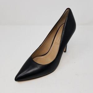 NWOB BCBGMAXAZRIA Black Leather Point Toe Heels